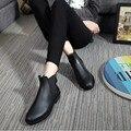 Moda mujer Botas 2016 zapatos para la lluvia botines De tacón bajo Aj mujeres Rainboots Botas De Agua impermeable Botas De goma para mujeres