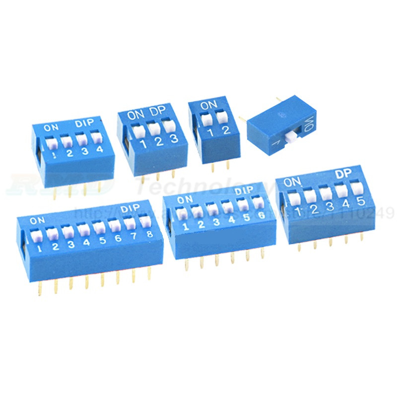 20PCS/Lot Positions DIP Switch DS 1 2 3 4 5 6 8 Way 2.54 mm Toggle Switch Blue Snap Switch Wholesale Electronic 20pcs lot ka331 dip 8