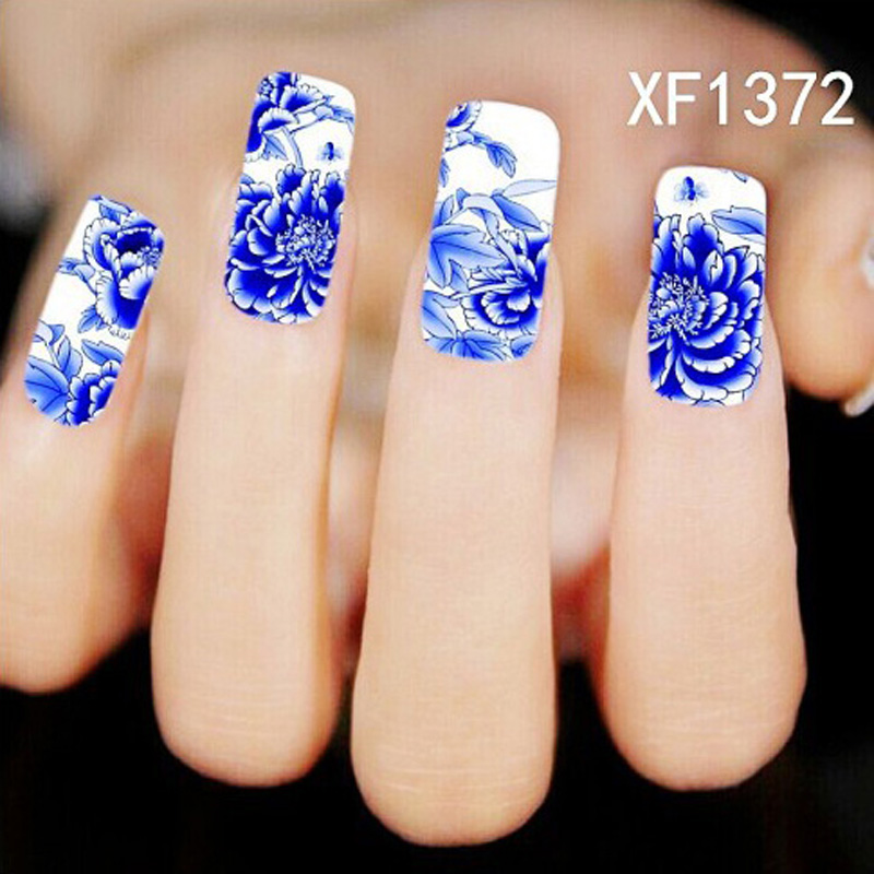 1x Nail Stickers Nail Art Materials For Nails Supplies Large Flowers ...
