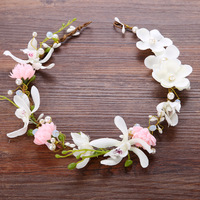 New Handmade Flowers Headdress Bridesmaid Hair With Children Head Ring Headdress Portrait Jewelry Bride Hair OrnamentsAQ2303