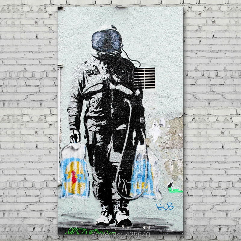 Banksy Graffiti,pop Art Street art on canvas,Poster and ...