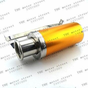 Tubo de escape dorado tubo escape moto escape de moto de cross atv quad 110cc gy6 150cc 125cc escape envío gratis