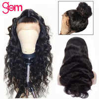 Body Wave Wig 13x4 Human Hair Lace Front Wig Remy Hair Wig 150% Lace Front Human Hair Wig for Black Women GEM Peruvian Hair Wigs