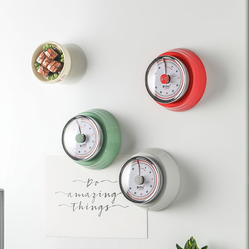 Cooking Alarm Clock Kitchen-Timer Mechnical Magnetic Counter Reminder Stainless-Steel