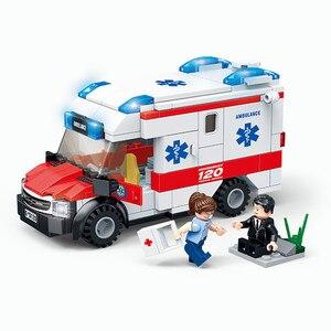 Image 4 - مدينة جديدة الإسعاف الطبي الإنقاذ هليكوبتر الطوارئ سيارة مطافئ اللبنات مجموعات الطوب ألعاب تعليمية للأطفال هدية