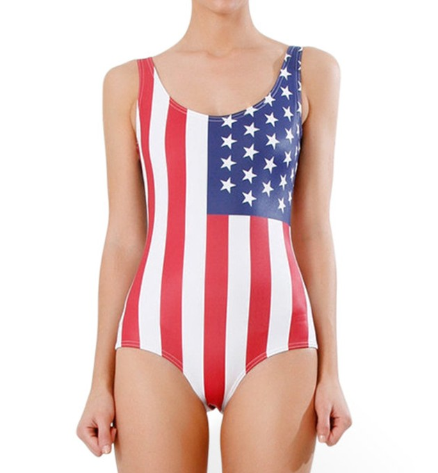 quickshop NEW - Ginger Flowers Underwire Over-The-Shoulder Wrap-Front One-Piece Swimsuit $ quickshop NEW - IslandActive® Breton Stripe Plunge Tank One-Piece Swimsuit.