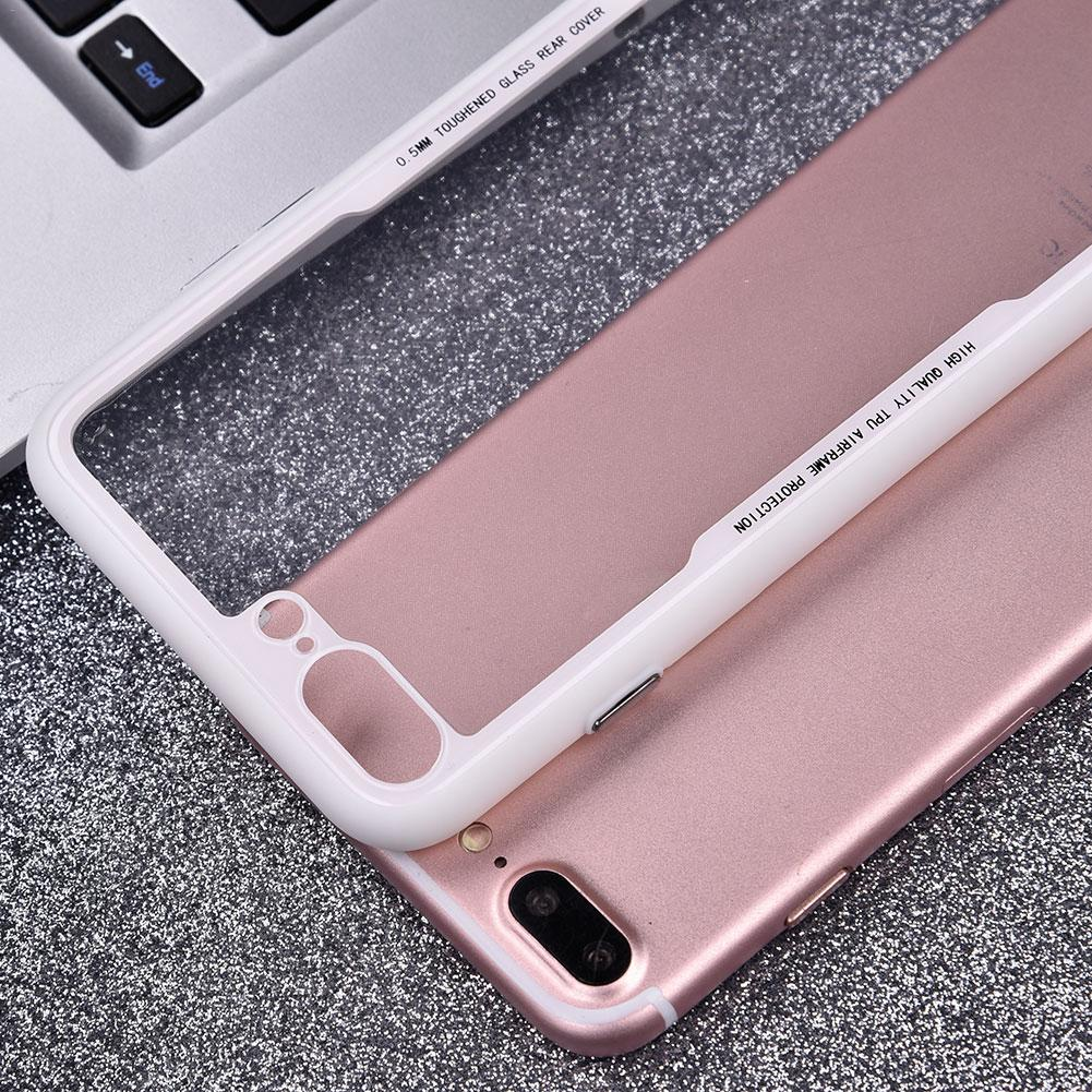 Soft TPU PC Phone Cases For iPhone 7 8 Case Ultra Thin Transparent Cover For iPhone Case for 7 8 Plus Capa Coque Accessories
