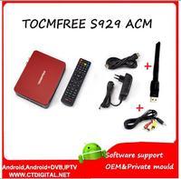 TOCOMFREE S929 ACM 1 pcs Amérique Du Sud Récepteur Satellite DVB-S2 Double Tuner IKS SKS IPTV récepteur acm wifi & av câble