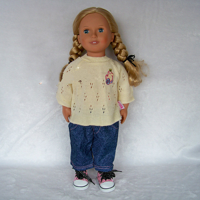 Aliexpress.com   Buy New 1set sweater+jeans Doll Clothes Wear fit ... 31192f40fe52