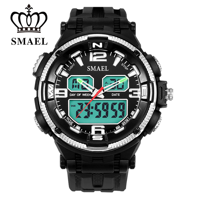 Military Watches Sport LED Digital Watch Waterproof Men's Wristwatch Dual Time Digital-Watch Quartz Fashion Men Watch WS1360