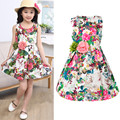 Kids clothing summer dresses for girls summer style girl dress floral print cotton birthday party sundress baby children clothes
