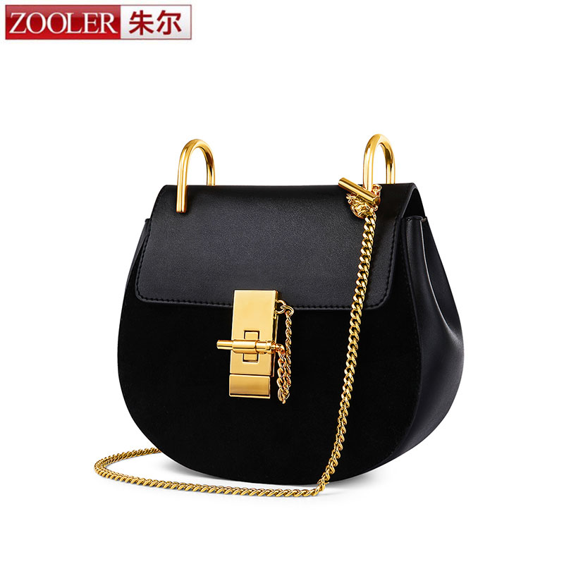 ZOOLER New Hot Sale Popular Brand Design Women Genuine Leather Cloe Bag High Quality Real Cowskin Shoulder Bag Small Chain Bag memunia new arrive hot sale genuine
