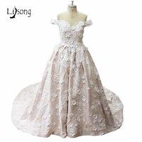 Princess Floral Wedding Dress Off Shoulder Customized Bridal Formal Dress Vestido De Festa Colorful Floor Length