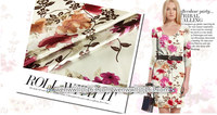 High Quality Designer 100 Pure Natural Mulberry Silk Crepe Satin Plain Fabric Rose Brown Flower 1meter