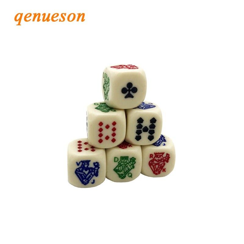 6 шт./лот высокое качество покерная резьба по кости наборы зуб желтый белый 16 мм акриловый закругленный угол шестигранник друзья игральные к...