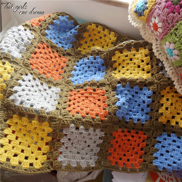 Diy Handmade Crochet Baby Blanket Cushion Colourful Table Mats