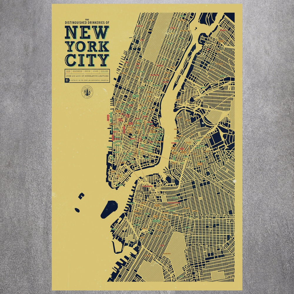 New York City Map Canvas Art Print Painting Poster Wall Pictures For ...