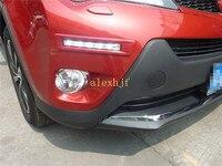 July King LED Daytime Running Lights DRL Case for Toyota RAV4 2013~ON, Red Brown Silver Dark Gray White Black Orange Frame