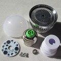 DIY conduziu a luz de lâmpada E27 E14 3 w 5 w 7 w 9 w bolha LEVOU kit shell lâmpada bola luz Da Lâmpada acessórios de Cobre dissipador De calor de Alumínio do parafuso