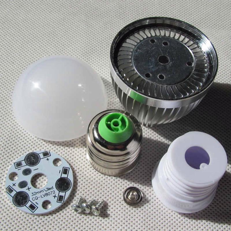 led bulb E27 E14 3w 5w 7w 9w 12w LED bubble ball light shell kit diy accessories aluminum heat sink screw energy saving led lamp e cap aluminum 16v 22 2200uf electrolytic capacitors pack for diy project white 9 x 10 pcs
