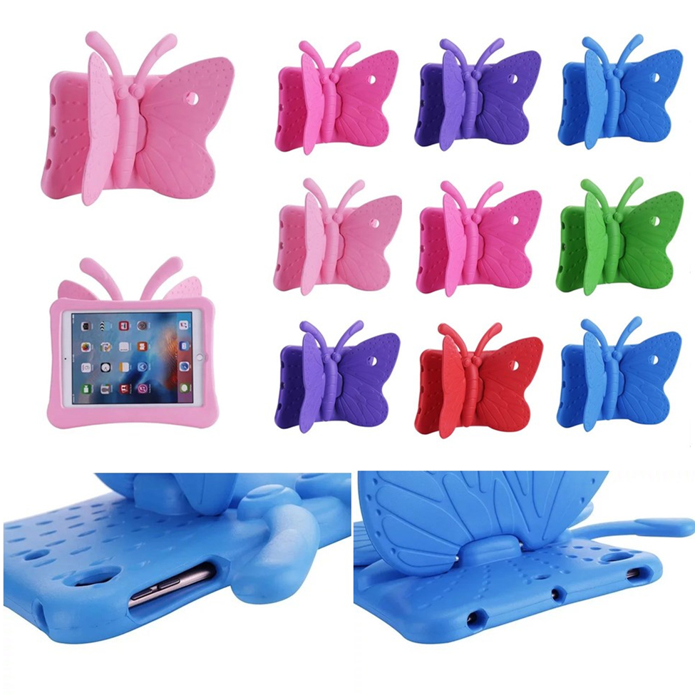 For Apple ipad pro 9.7'' Tablet Smart Cover Kids Child Butterfly Case Cover for Apple iPad air 1 2 3 iPad 5 6 7 Cases zoyu smart cover for apple ipad air 2 air 1 case hot case for ipad 5 6 case