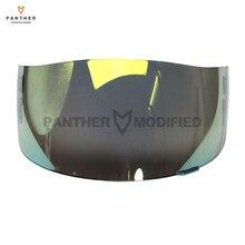 1 PCS Gold Motorcycle Helmet Visor Lens Full Face Shield Case for SHOEI CX1-V X11 Raid 2 XR1000 X-Spirit Multitech