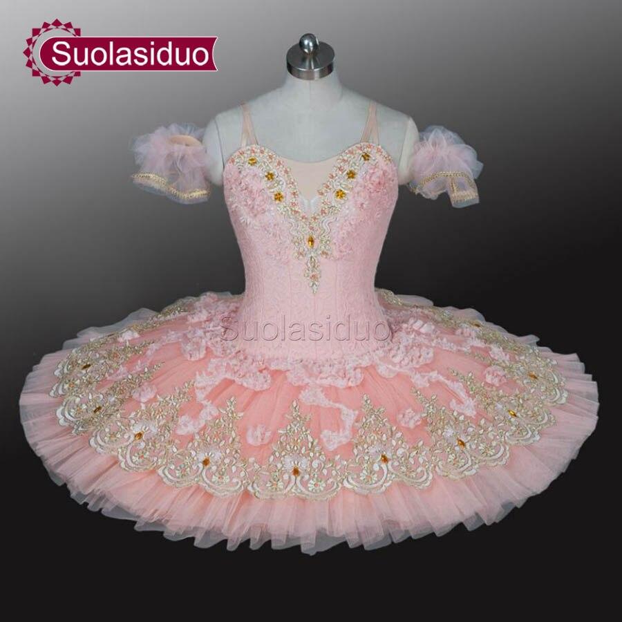 Розовый взрослых профессиональная балетная пачка этап одежда Для женщин балетные танцевальные костюмы для выступлений для девочек Одежда
