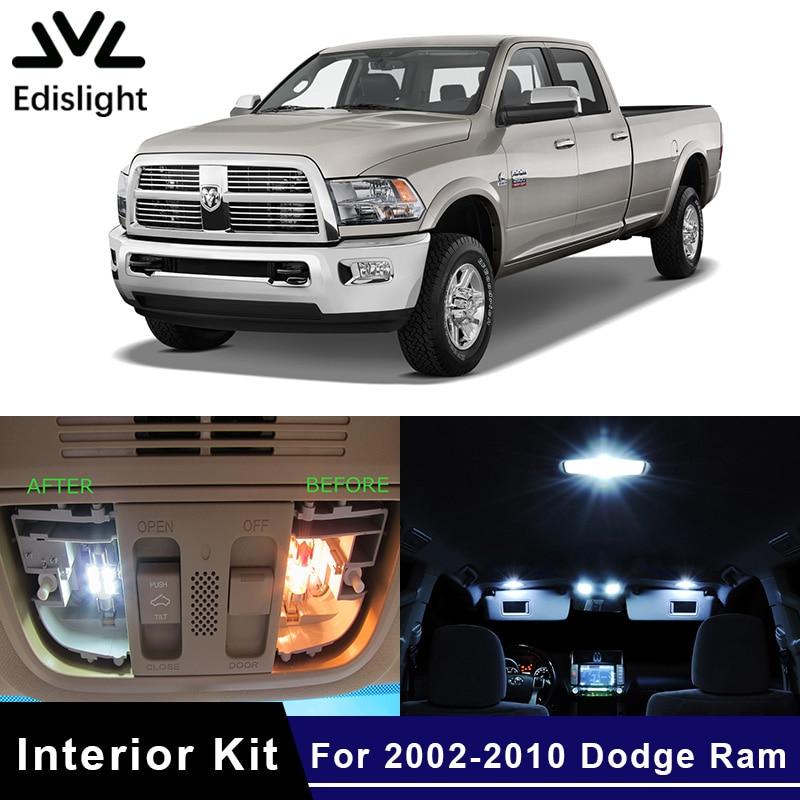 Edislight 14Pcs Canbus LED Lamp Car Bulbs Interior Package Kit For 2002-2010 Dodge RAM 1500 2500 3500 Map Dome Trunk Plate Light