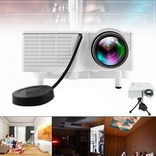 UC28 Universal 400 Lumens HD 400Lumens Multimedia LED Home Projector Support 60