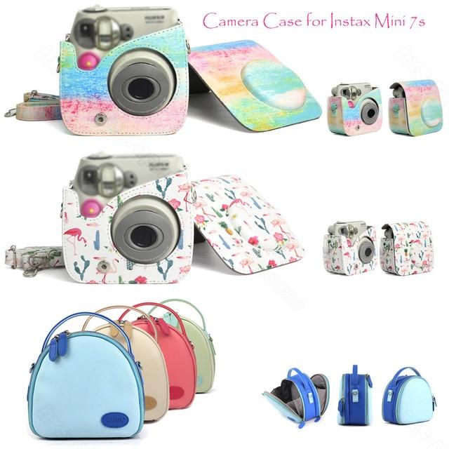 Fujifilm Instax Mini 7s 7c Camera Case, Quality PU Leather Shoulder Bag with Strap for Fuji Instax Mini 7s 7c Camera