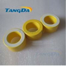 Tangda Iron powder cores T90-26 OD*ID*HT 23*13.5*10 mm 70nH/N2 75ue Iron dust core Ferrite Toroid Core toroidal yellow white