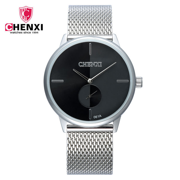 Simple Couple Watches Unique Design Minimalism Silver Stainless Steel Black White Classic Lovers Watch Women Men Casual Clock
