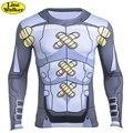 \ Line Walker \ Clássico Anime Personagens 3D Camiseta TAICHI YAGAMI Cosplay Digimon Digimon T Shirt Homens Casuais cheio apertado mangas