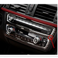 Car Center Control CD panel decal 100% Real Carbon fiber cover trim For BMW New 3 series GT F30 F35 320 328 335