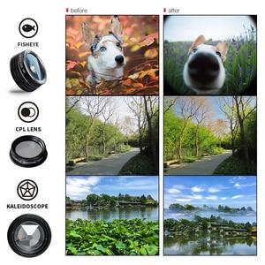 Image 4 - APEXEL 7 で 1 キット携帯電話のレンズ魚眼レンズ広角マクロレンズ CPL 万華鏡ズームレンズ iPhone samsung xiaomi 電話