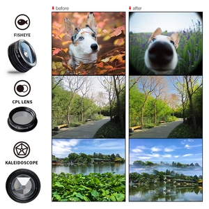 Image 4 - APEXEL 7 in 1 Kit Lens For Phone Fish eye lens Wide Angle macro Lens CPL Kaleidoscope zoom Lens for iPhone samsung xiaomi Phone