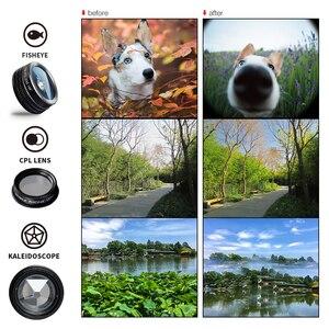 Image 4 - APEXEL 7 trong 1 Ống Kính Kit Cho Điện Thoại Cá mắt ống kính Góc Rộng Ống Kính macro CPL Kính Vạn Hoa Ống Kính zoom cho iPhone samsung xiaomi Điện Thoại