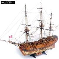 Деревянный корабль модели наборы Развивающие игрушки поезд хобби модель лодки Деревянный 3d лазерная масштаб 1/32 HMS друид 1776 16 пушки фрегат