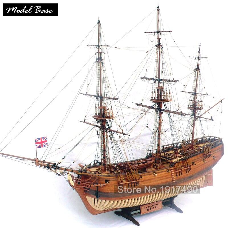 Wooden ship font b models b font font b kits b font educational toy