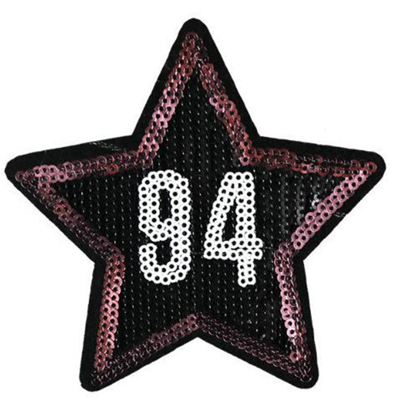 T shirt Women patch sequins 10cm 94 star deal with it biker patches for clothing flower stickers 3d t shirt mens free shipping