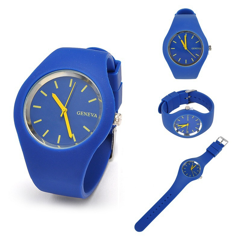 100pcs/lot Free Shipping High Quality  Simple Style Ladies Silicone  Watch