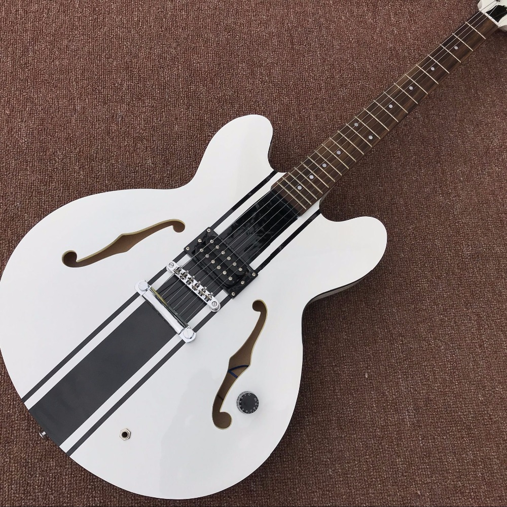 HOT!New arrive Custom Shop white top JAZZ Electric Guitar Real photo shows
