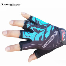 LongKeeper Fashion Exercise Men Women Gloves Half-finger mittens fingerless glove luva Workout Guantes Ciclismo