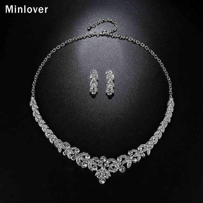 Minlover Luksuzni srebrni barvni kristalni nakit za poročne obleke - Modni nakit - Fotografija 5