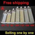 Real power 4 pin led g24q-3 pl bulb Lamp 5W 7W 9W 10W 11W 12W SMD5730 5050 2835 led downlight light AC85-265V 110V 220V