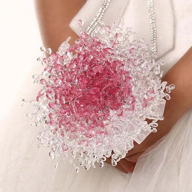 Nova Arrical 2016 personalizado de noiva YIYI Bouquet com pérola frisado broche Romantic Wedding colorido Bride ' s Bouquet WD0024