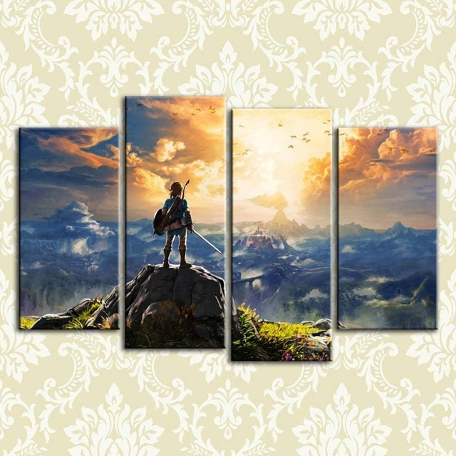 modern hd printed pictures frame canvas painting poster 4 panel the