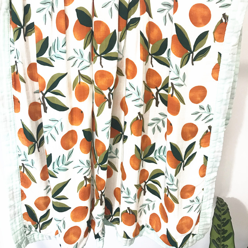 4 Layer Bamboo Muslin Tree Baby Muslin Blanket Watermelon Quilt Swaddle Better Than Anais Baby/bamboo Blanket Infant Wrap