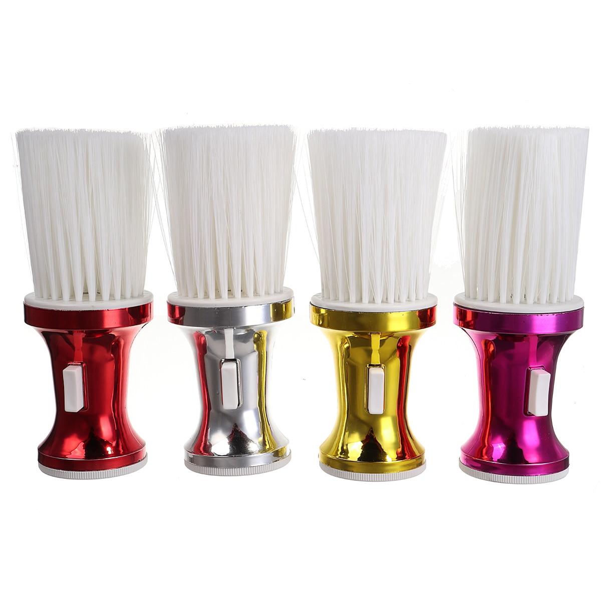 4 Colores Salón De Pelo Afeitado Cepillo Suave Cuello Polvo Quitar Cepillos De Limpieza Peluquería Estilismo Herramientas Limpias