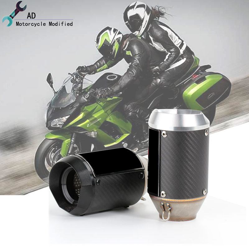 Fit For Kawasaki Z1000 Z900 Z750 Z650 Z800 Escape Exhaust Carbon fiber Muffler Pipes dB Killer Motorcycle Accessories Austin